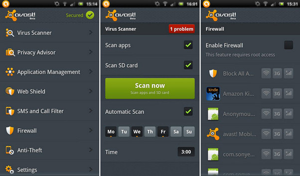 Best Virus Removal App Avast for Android