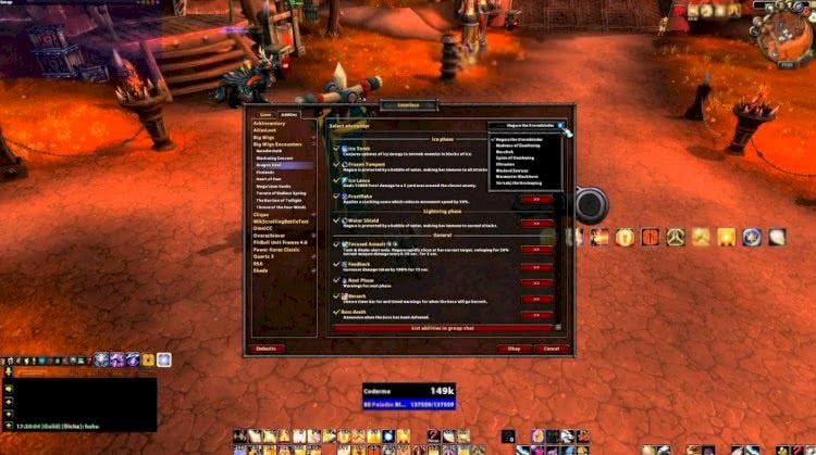 world of warcraft addons