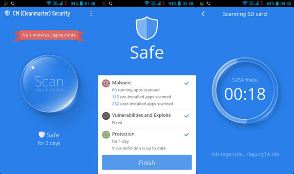 CM Security Antivirus for Virus Removal on Android