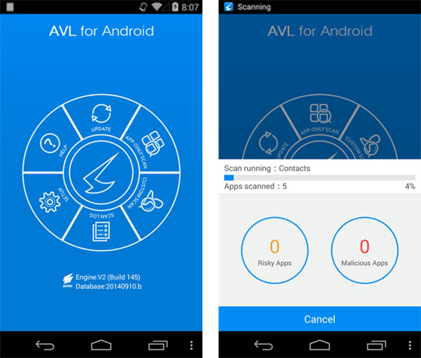 Virus Removal App AVL for Android