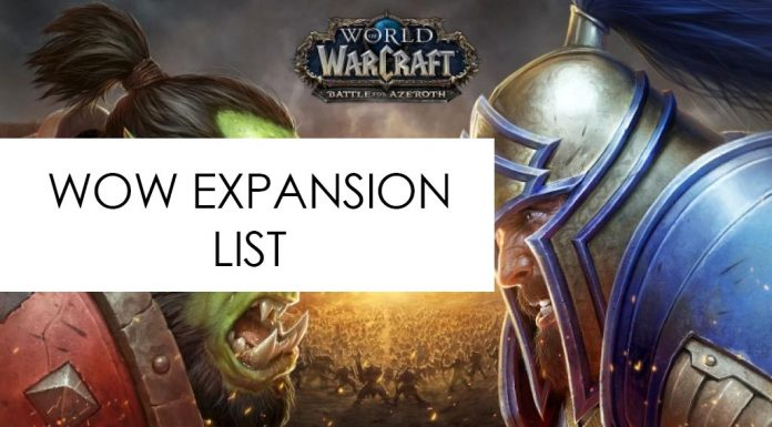 wow expansion list