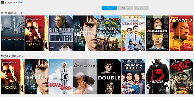 PopCornFlix - Well Known Streaming Site