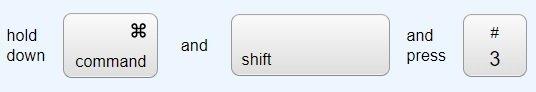 Shortcut 1 to Take a Screenshot on a Mac