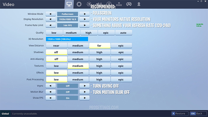 How To Increase FPS In Fortnite through Settings
