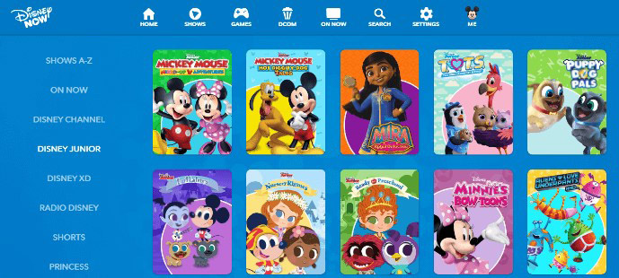 Disney Junior is the best site for cartoon series for kids