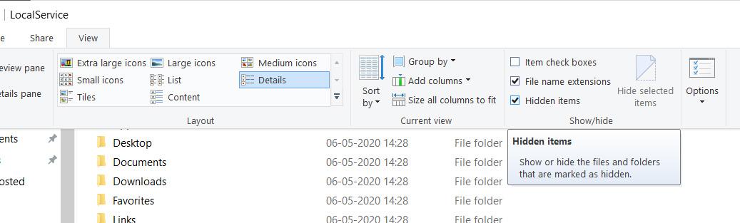 View Hidden AppData Folder