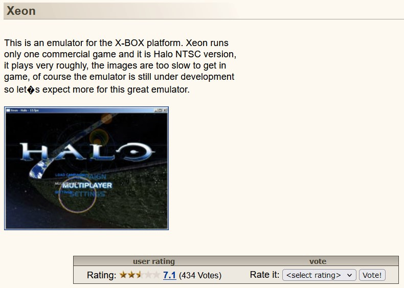Xeon Xbox Emulator for PC