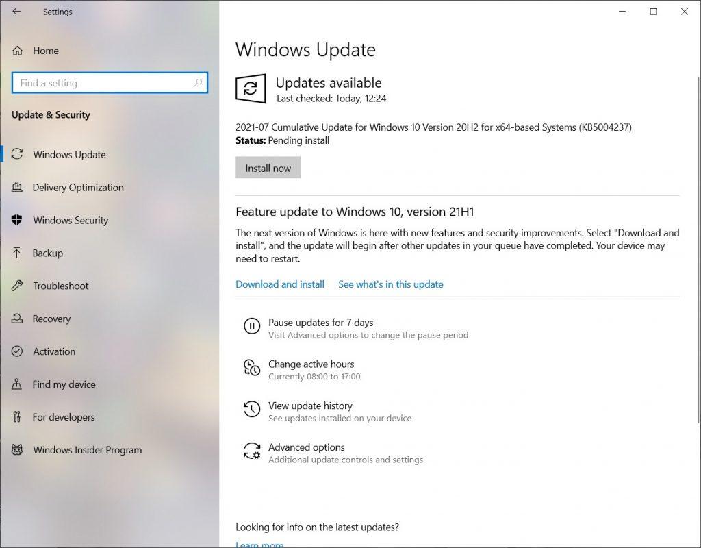 windows 10 kernel security check failure - updates