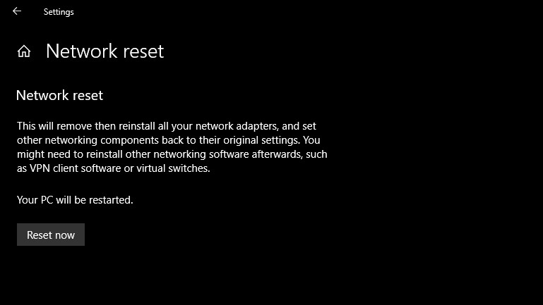 Reset your network settings - why is my internet not working
